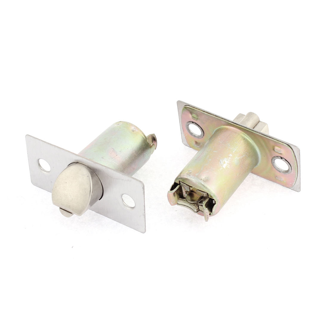 Door Cylinder Shape Safety Locking Lock Bolt 2pcs