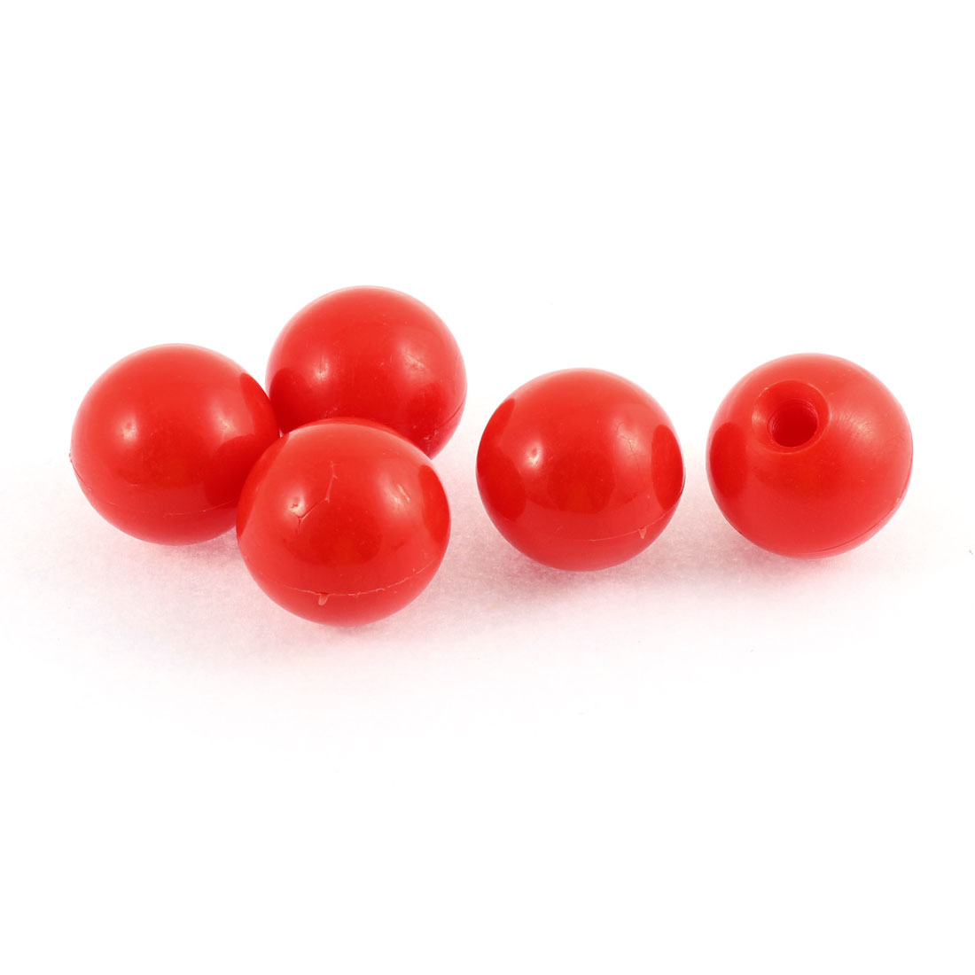 M10 Female Thread Red Plastic Ball Knobs Machine Tool 5 Pcs