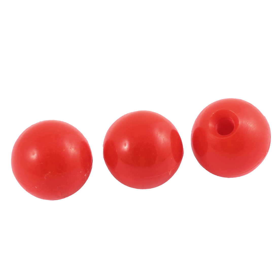 40mm Dia Red Plastic Ball Knobs Pull Handle 3 Pcs