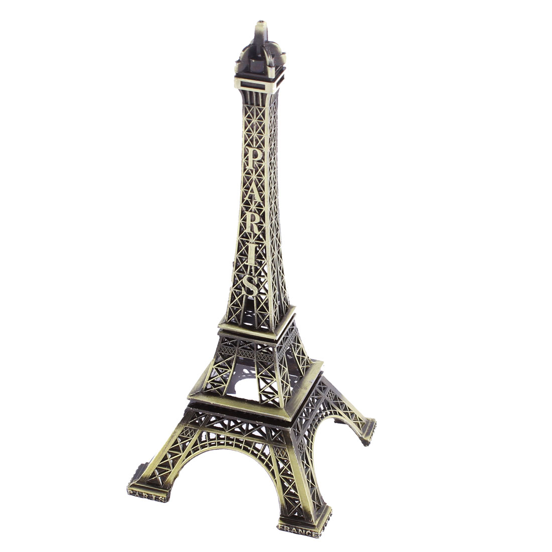 Metal Paris Eiffel Tower Model Decor 18.5cm High Bronze Tone