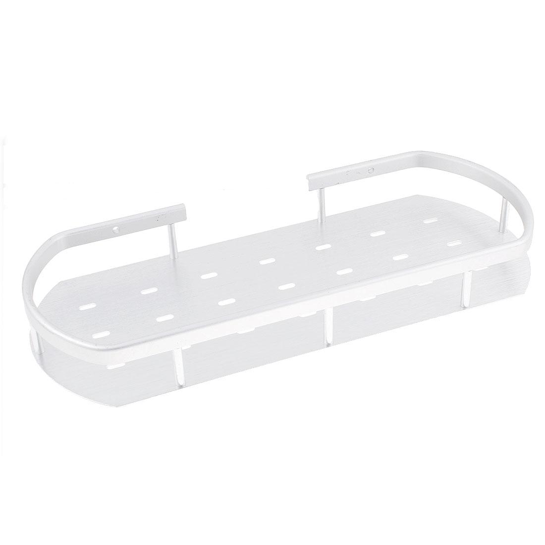 Aluminum Wall Mount Single Tier Bathroom Corner Shelf Shower Storage Holder