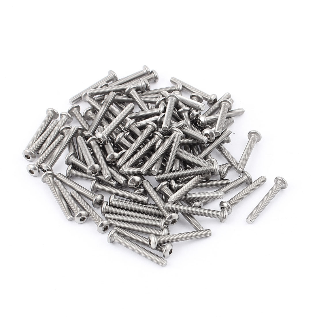 M3 x 22mm 304 Stainless Steel Hex Socket Button Head Bolts Screws 100pcs