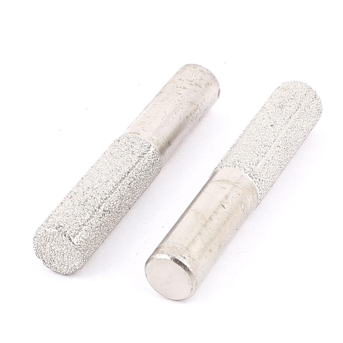 13mm Dia Cylinder Grinding Head Diamond Brazed Mounted Point Bistrique 2pcs