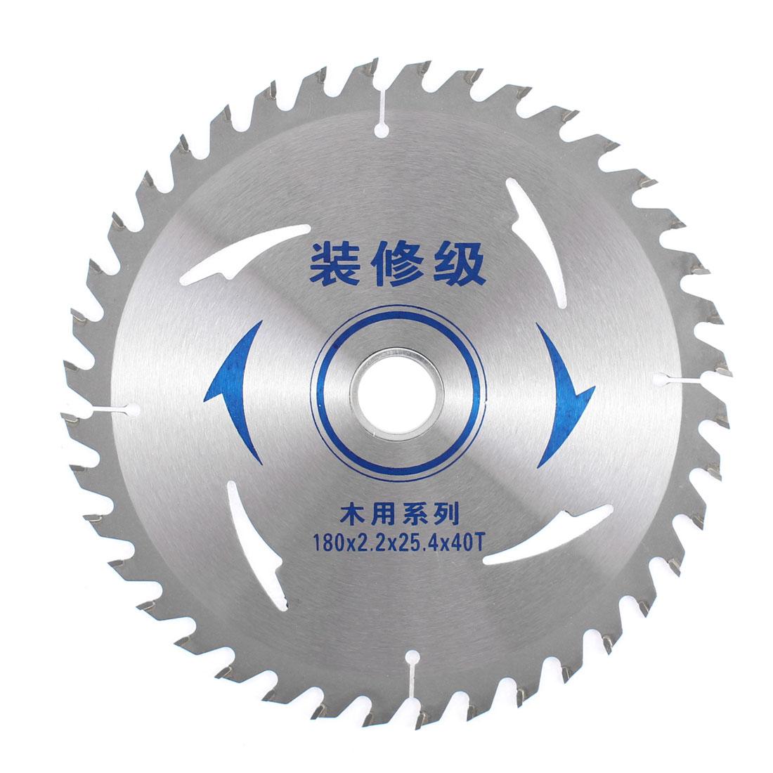 180mmx25.4mmx2.2mm 40T Circular Milling Slitting Slotting Saw Mill Cutter