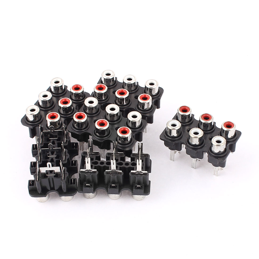 Audio Video Concentric RCA Socket 6 Female Jack Connector Adapter 6pcs
