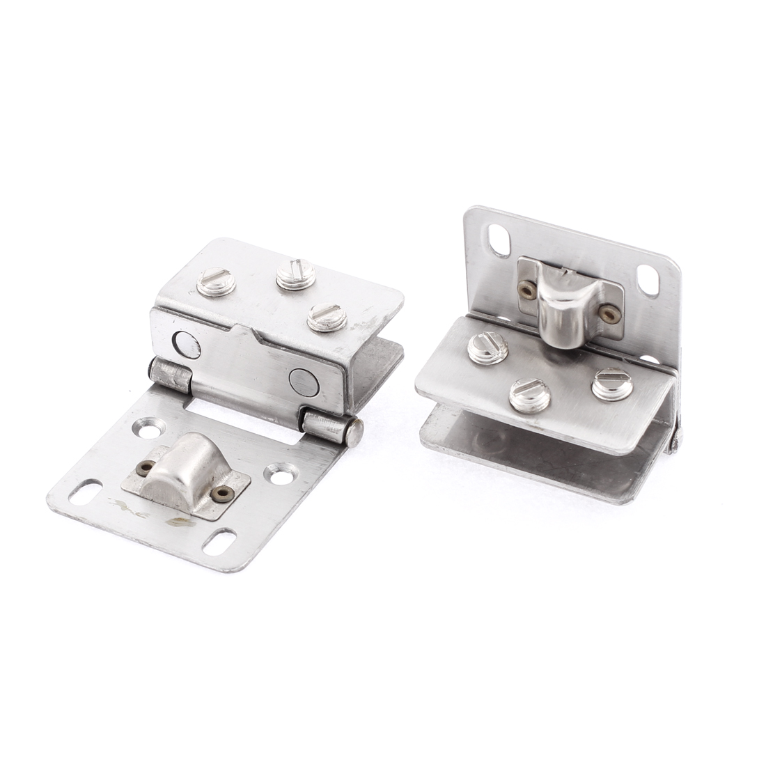 2 Pcs 11mm Thickness Glass Wall Mounted Fitting Clip Door Hinge Clamp