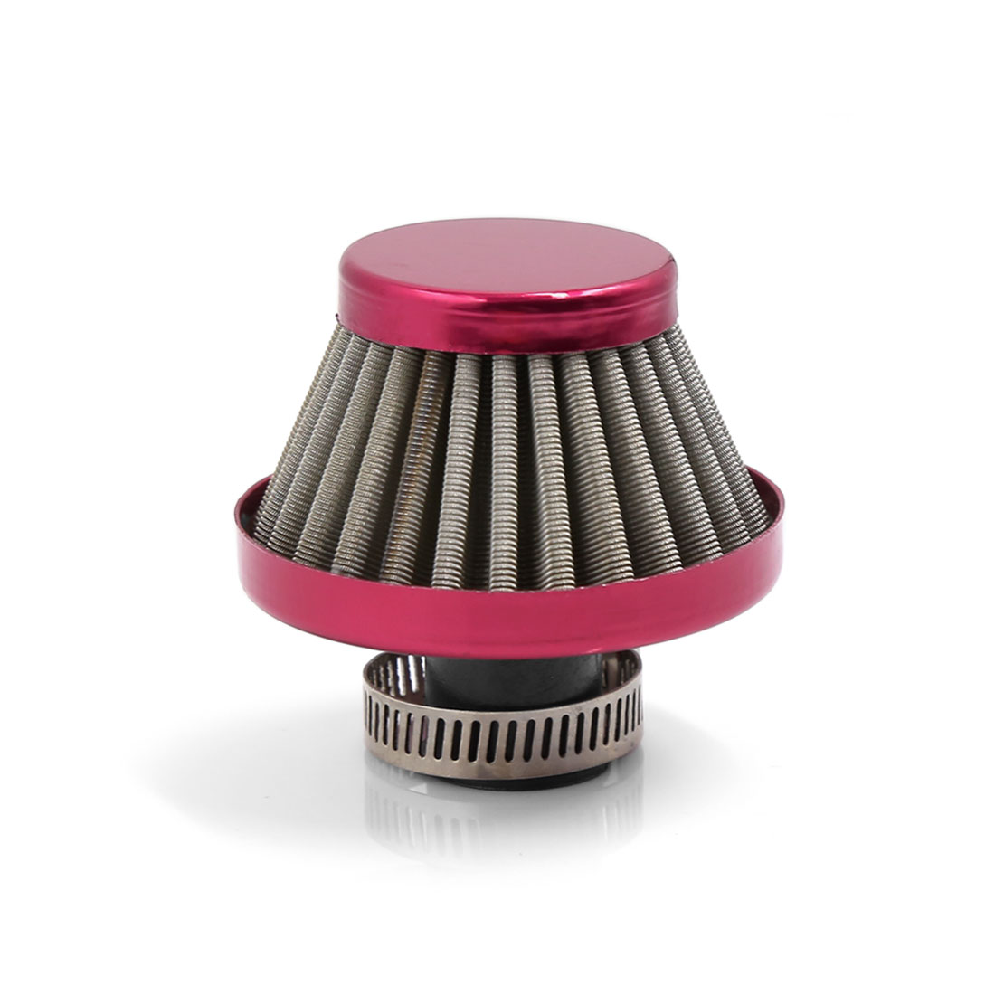 """10mm 0.4"""" Dia Car Truck Turbo Vent Crankcase Breather Air Intake Filter Red"""
