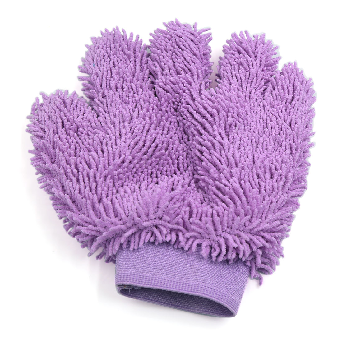 Car Cleaning Tool Five Fingers Shaped Elastic Microfiber Washing Glove Purple