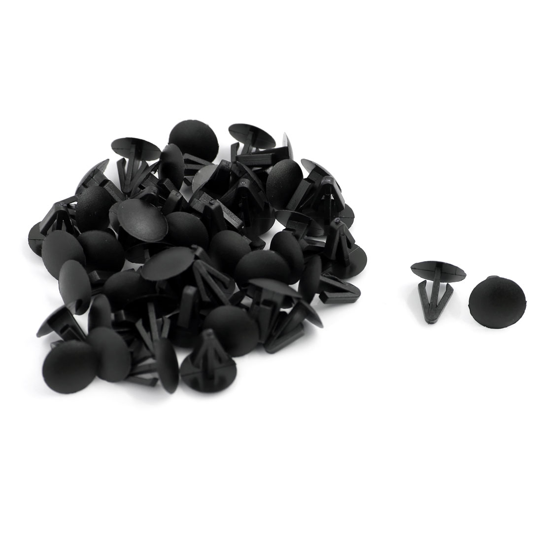 50 Pcs Plastic Car Door Bumper Trim Fastener Screw Rivet Clips 9mm x 14mm x 14mm