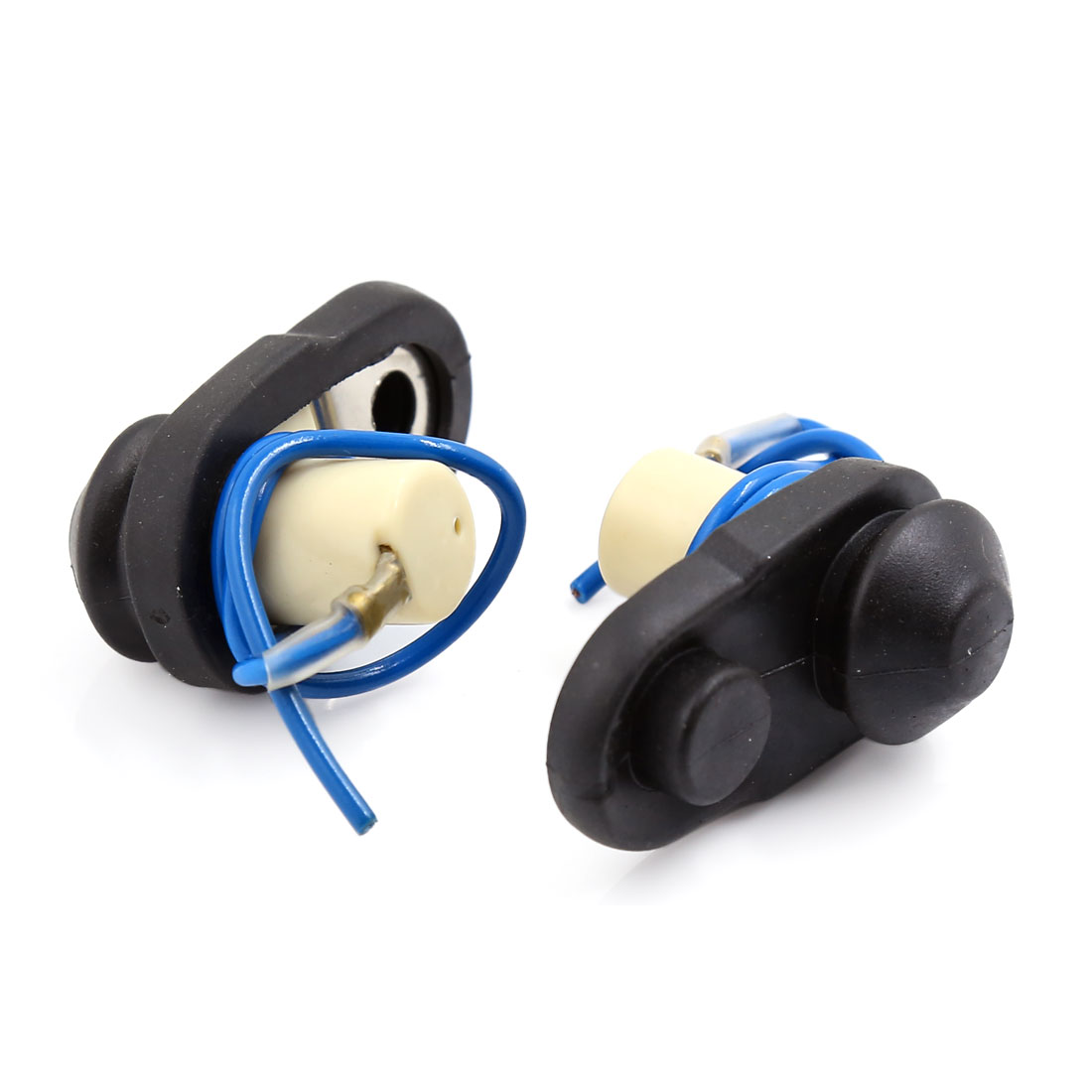 Universal Pre-wired Car Auto Door Courtesy Light Switch Button Black Blue 2pcs