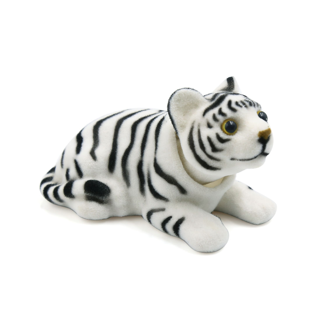 Car Tiger Shape Nod Nodding Bobblehead Dashboard Decoration White Black