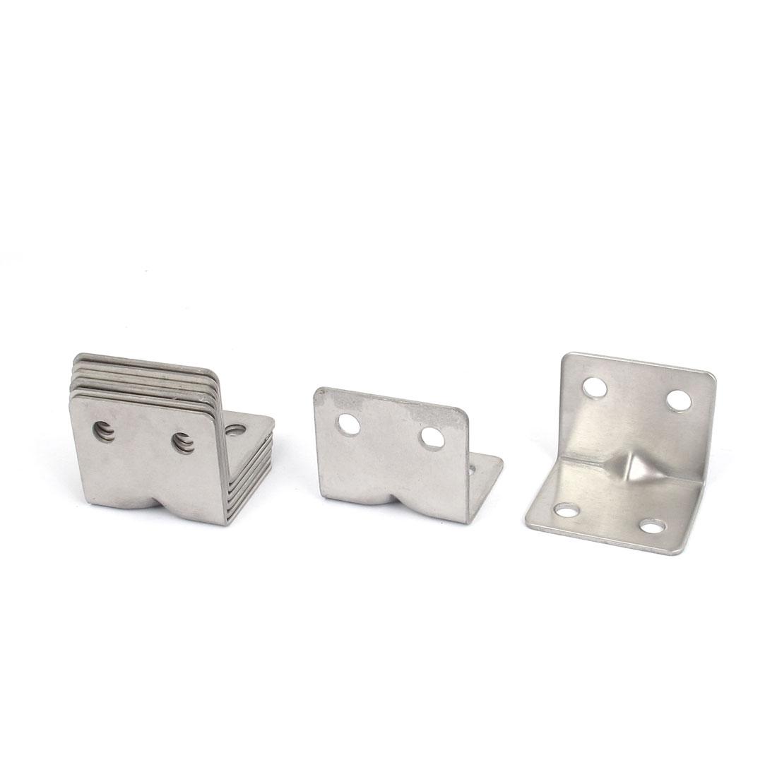 30mmx30mmx37mm L Shape Shelf Corner Brace Plate Right Angle Bracket 8pcs