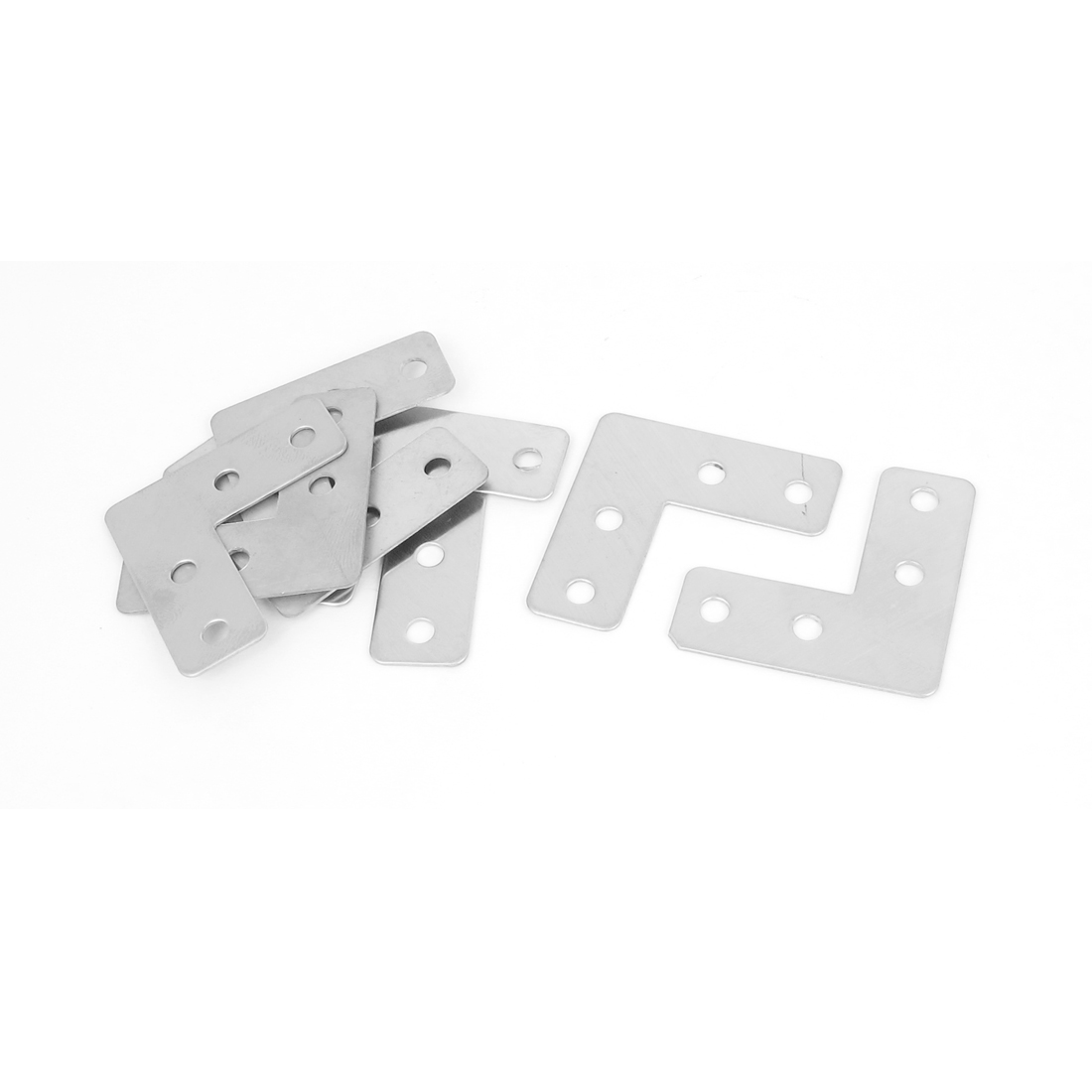 Furniture 40mmx40mmx15mm L Shape Right Angle Flat Plate Corner Brace Bracket 8Pcs