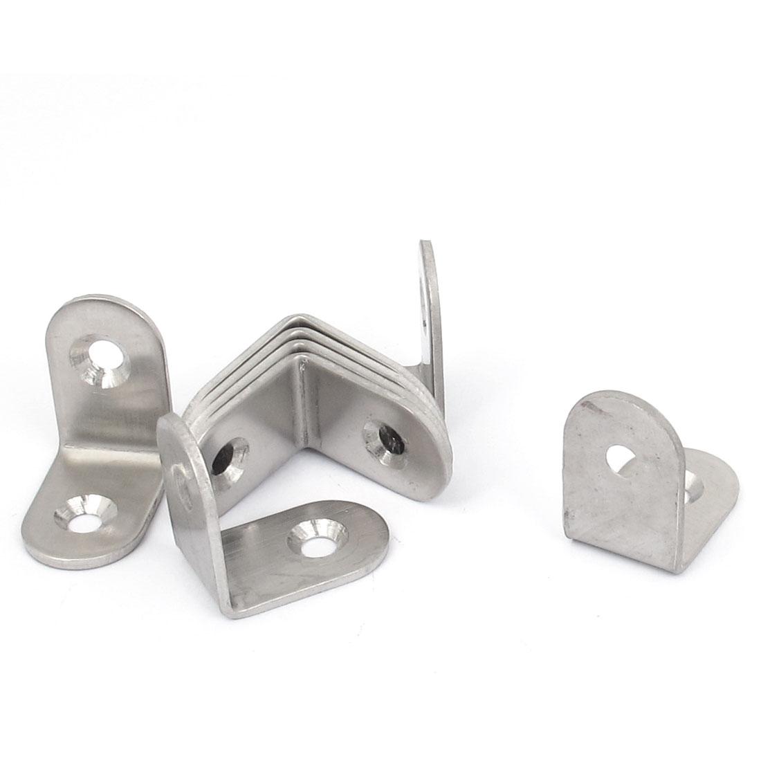 25mmx25mm L Shape 90 Degree Shelf Corner Brace Angle Bracket Support 9pcs