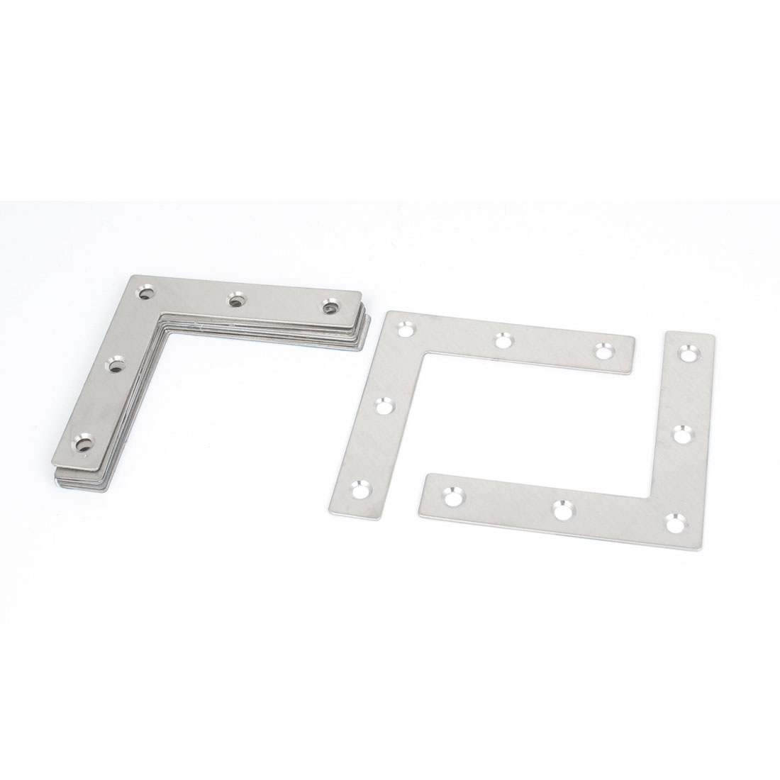 Furniture 80mmx80mmx16mm L Shape Right Angle Flat Plate Corner Brace Bracket 8Pcs