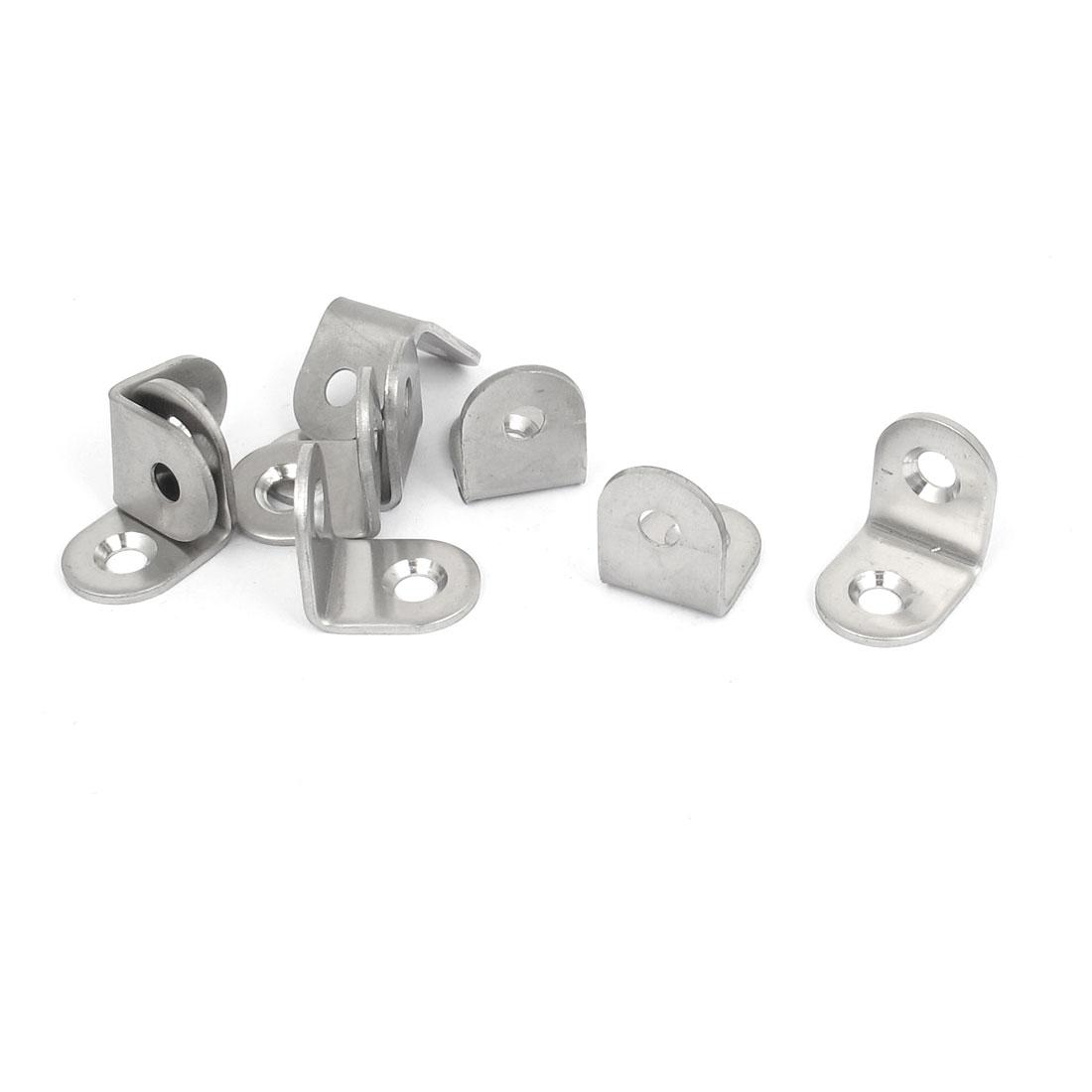 20mmx20mm L Shape 90 Degree Shelf Corner Brace Angle Bracket Support 9pcs