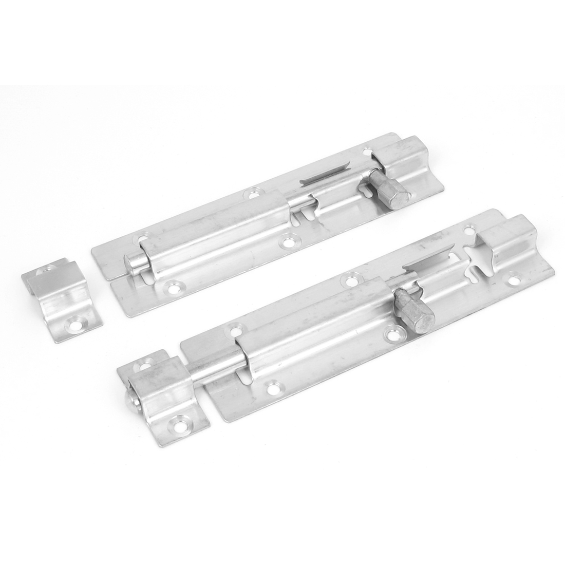 Cabinet Door Window Stainless Steel Security Lock Barrel Bolt Hardware 2pcs