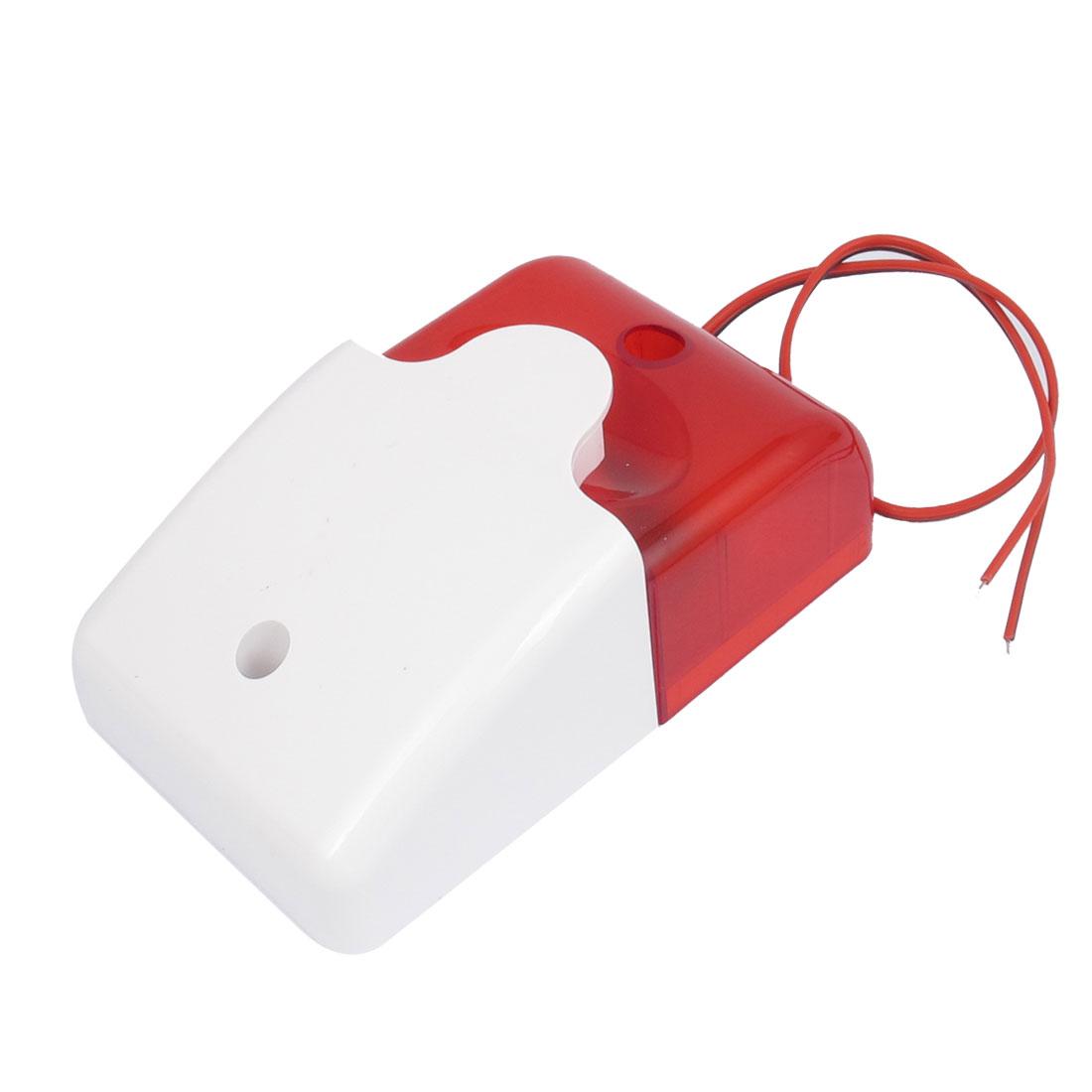 DC 12V 300mA 110dB Plastic Alarm Speaker Safety Warning Strobe Siren