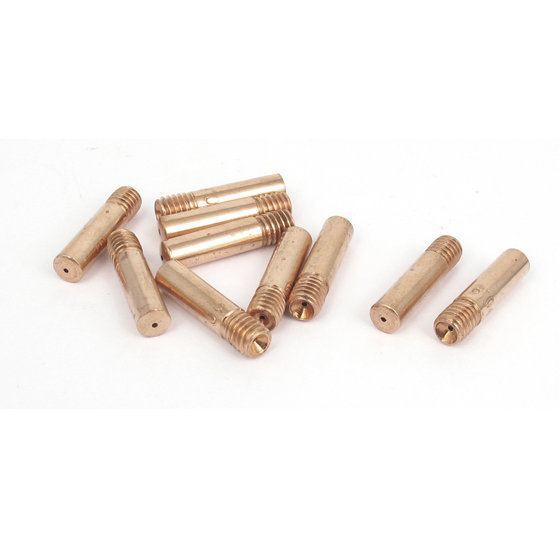 CO2 Welding Solder Torch 0.8mm Nozzle Tip Holder Copper Tone 10 Pcs