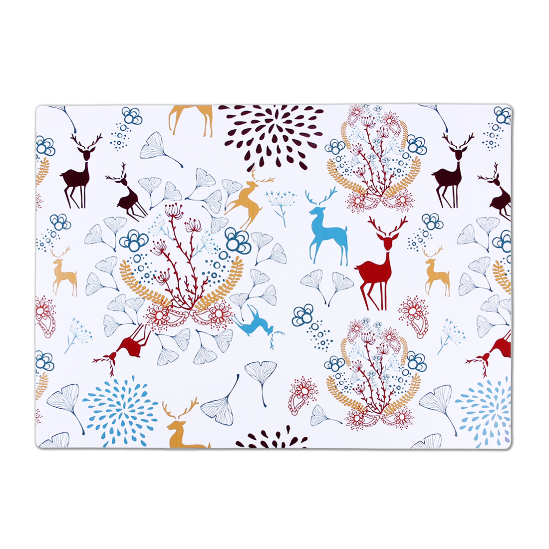 Desk Table Deer Print Waterproof Heat Insulated Extra Large Placemat Dinner Mat