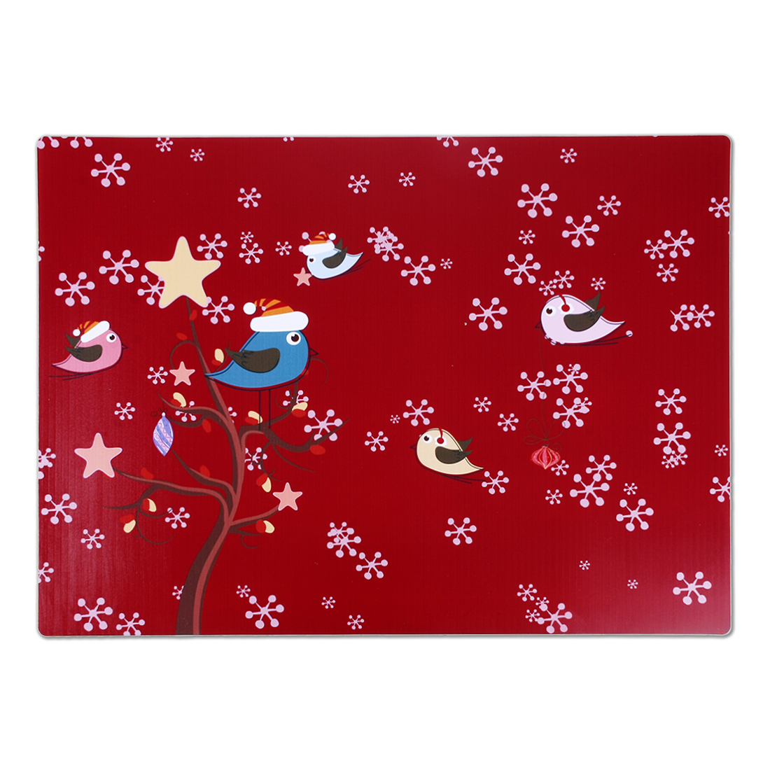 Snowflakes Bird Print Water Repellent Heat Insulating Dinner Table Mat Placemat