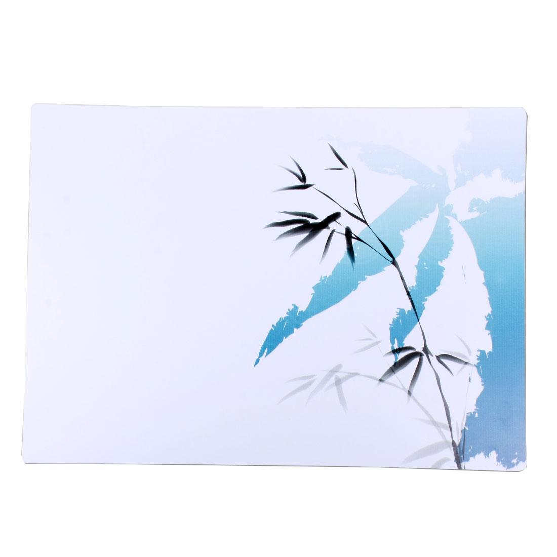 Table Bamboo Leaves Wash Painting Print Heat Resistant Placemat Dish Plate Mat