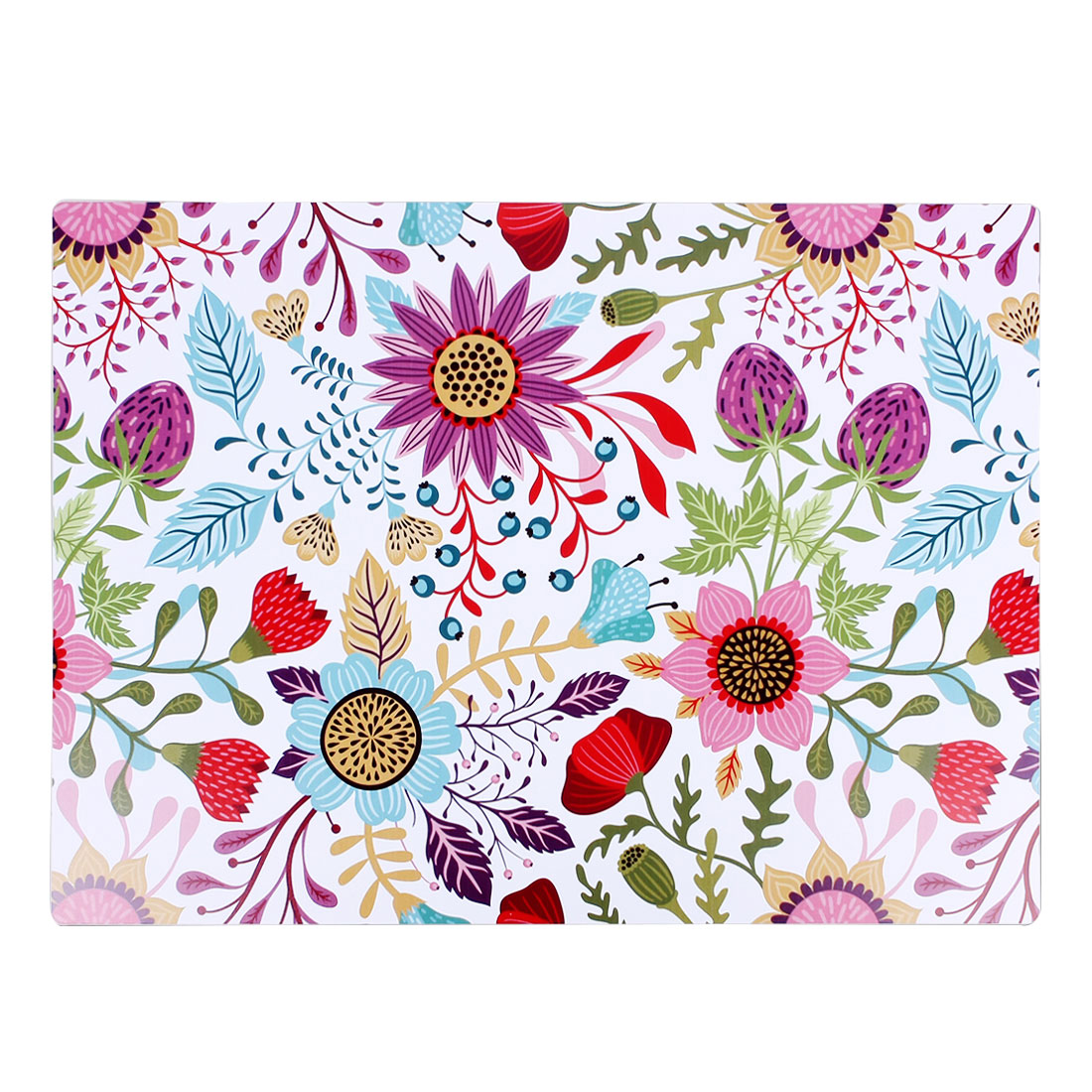 Flowers Fruit Pattern PVC Placemat Heat Insulation Extra Large Dining Table Mat