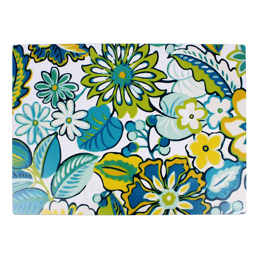 Dining Table Colorful Floral Print Rectangle Extra Large Placemat Beverage Pad