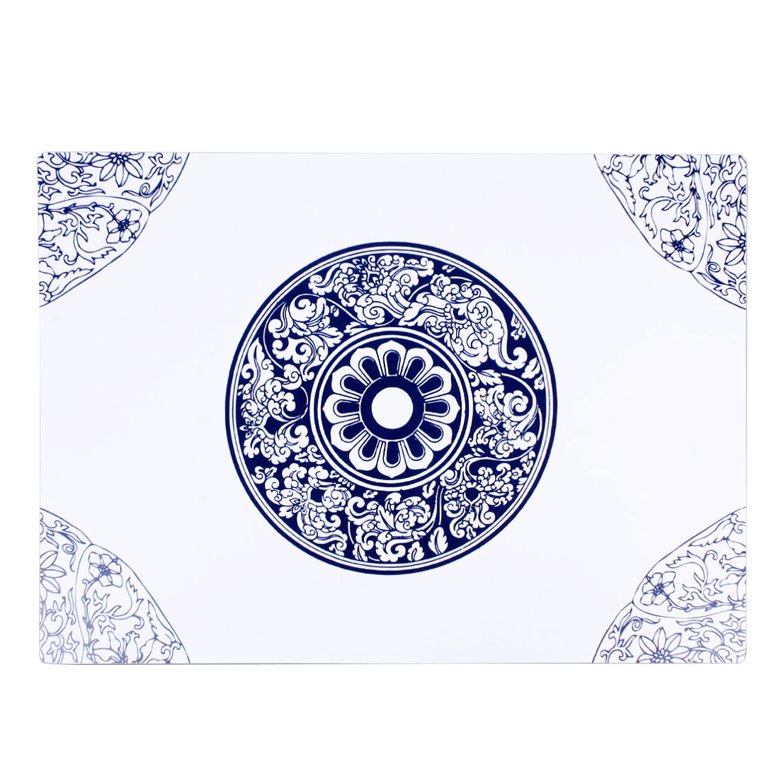 Blue White Porcelain Pattern Rectangle Placemat Dining Table Dish Cutlery Mat