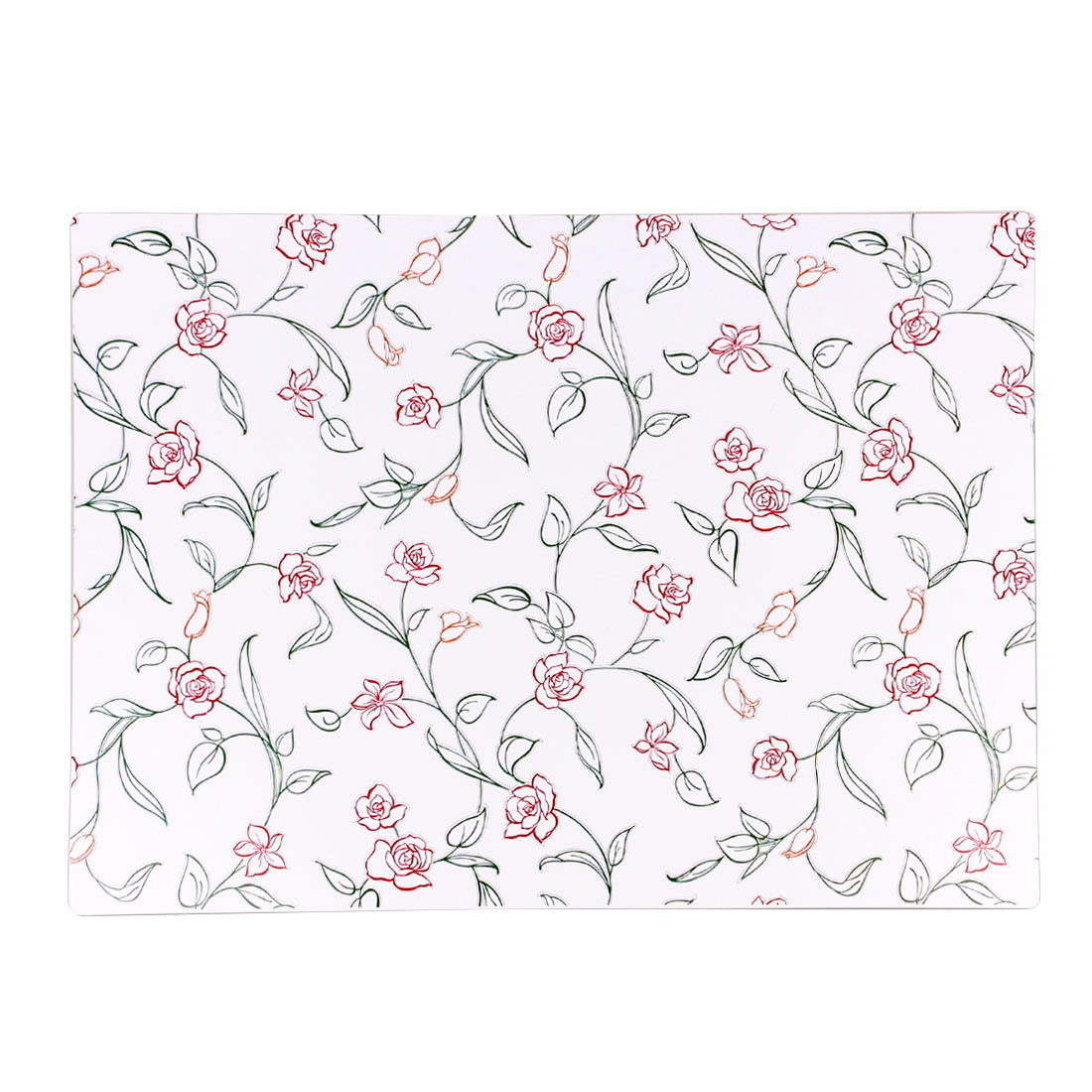Elegant Flowers Print Placemat Dining Table Mat Dinner Plate Cutlery Pad Cushion