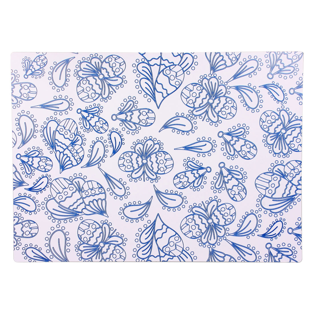 Blue Butterfly Pattern Placemat Dinner Tableware Pad Table Desk Mat Coaster