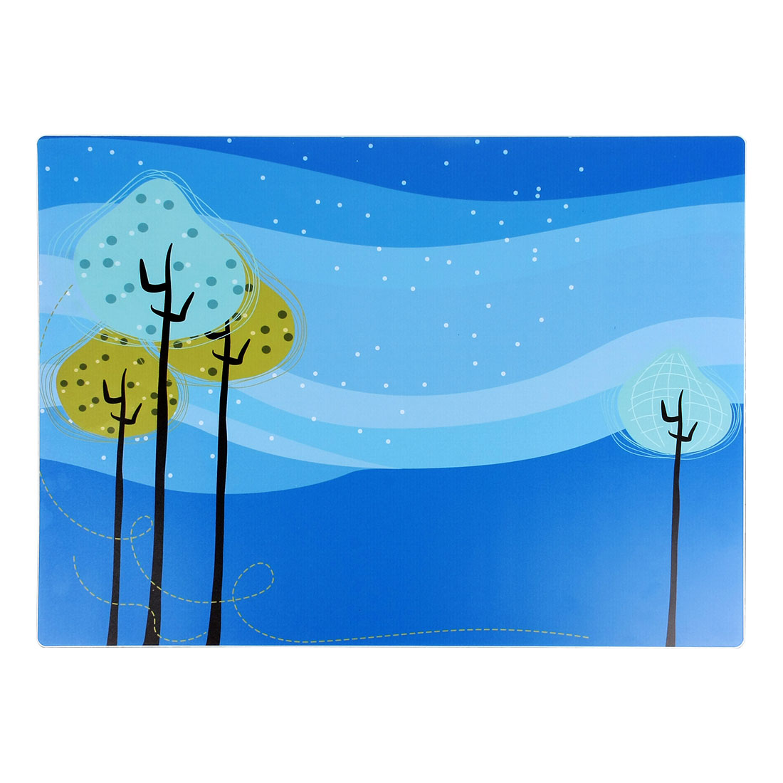 Winter Trees Print Heat Insulation Waterproof Placemat Dining Table Dishes Mat