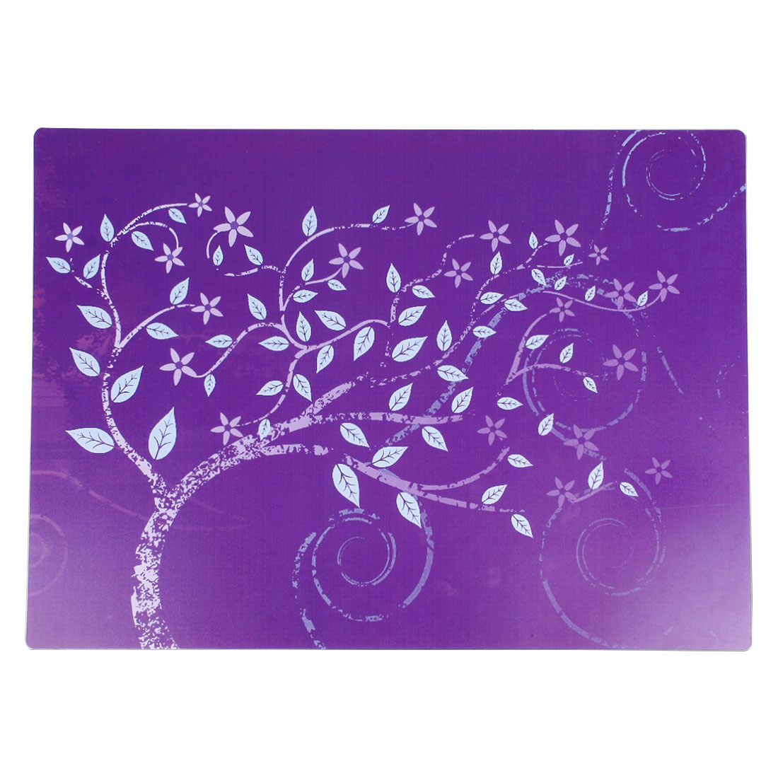 Dining Table Tree Print Heat Resistant Placemat Dinner Cutlery Dishes Mat Purple