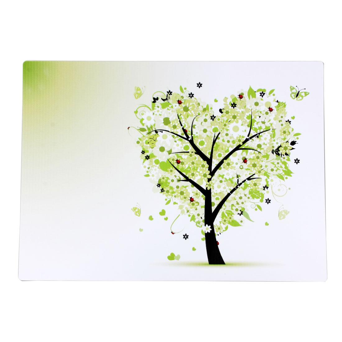 Multicolor Tree Print PVC Heat Insulation Bowl Pad Desk Mat Placemat