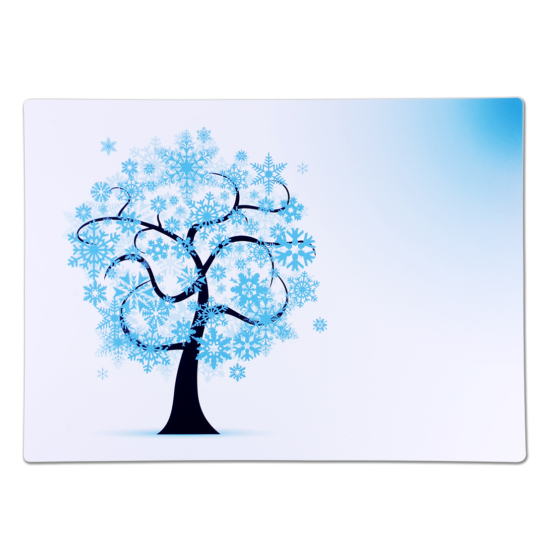 Silicone Rectangle Floral Tree Print Placemats Table Mats Holder