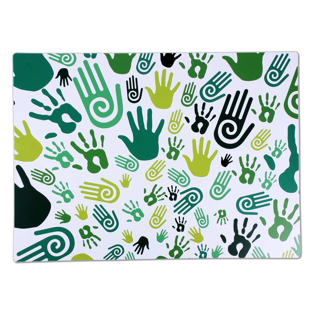 Rectangle Shaped Palm Pattern Non Slip Heat Resistance Placemat