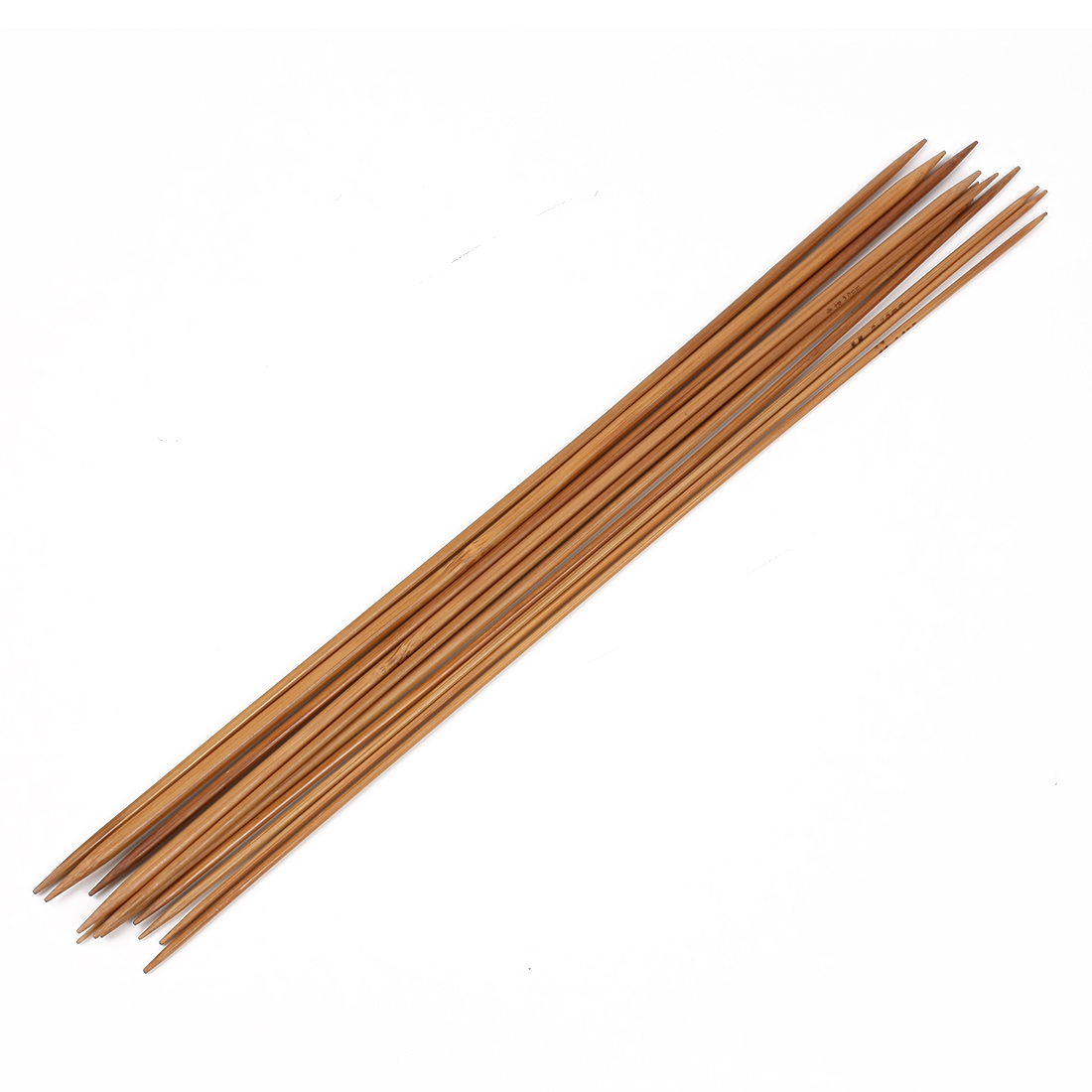 Double Point Straight Flexible Carbonized Bamboo Knitting Needles 35cm 11 Sets Sweater Needles