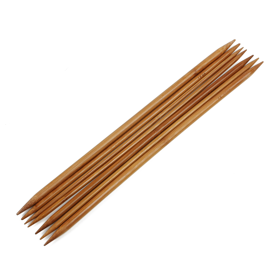 Double Pointed Straight Smooth Handmade Carbonized Bamboo Knitting Needles 35cm 9 Set Knitting Needles