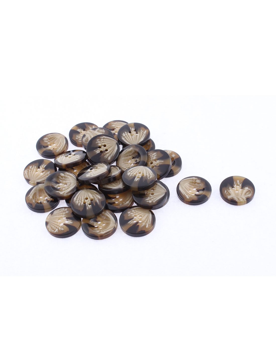 30pcs Round Shape Sewing Buttons 25mm Dia Coffee Color for Coat Jacket
