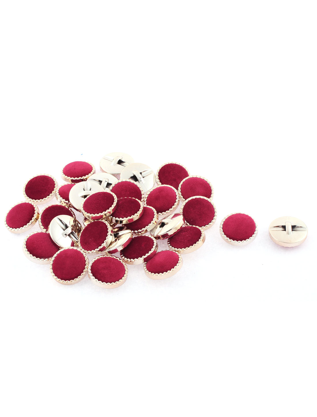 30 Pcs Round Sewing Buttons 25mm Dia Burgundy for Clothing Coat Jacket