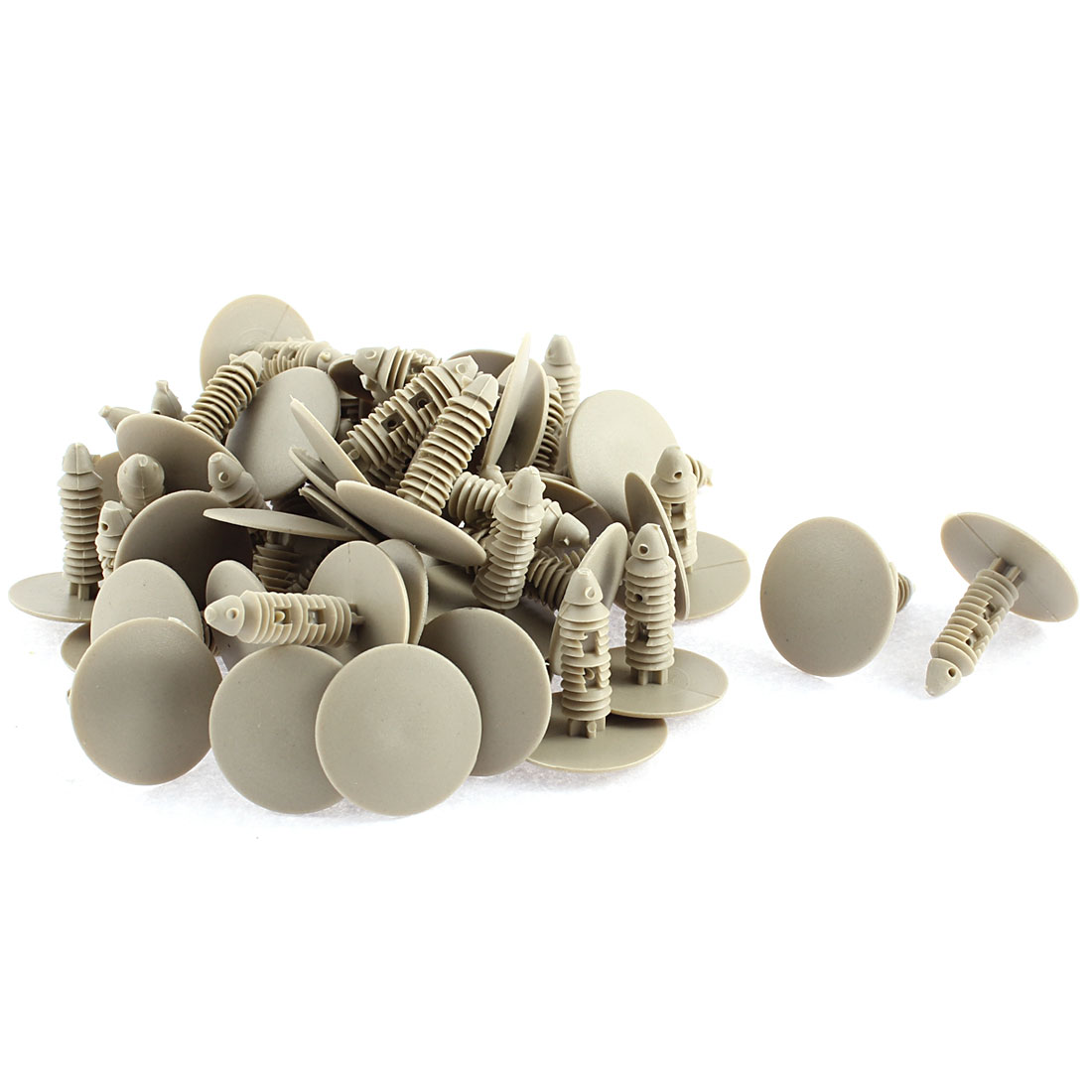 50Pcs Plastic Car Truck Splash Guard Fastener Retainer 26mm Head Beige