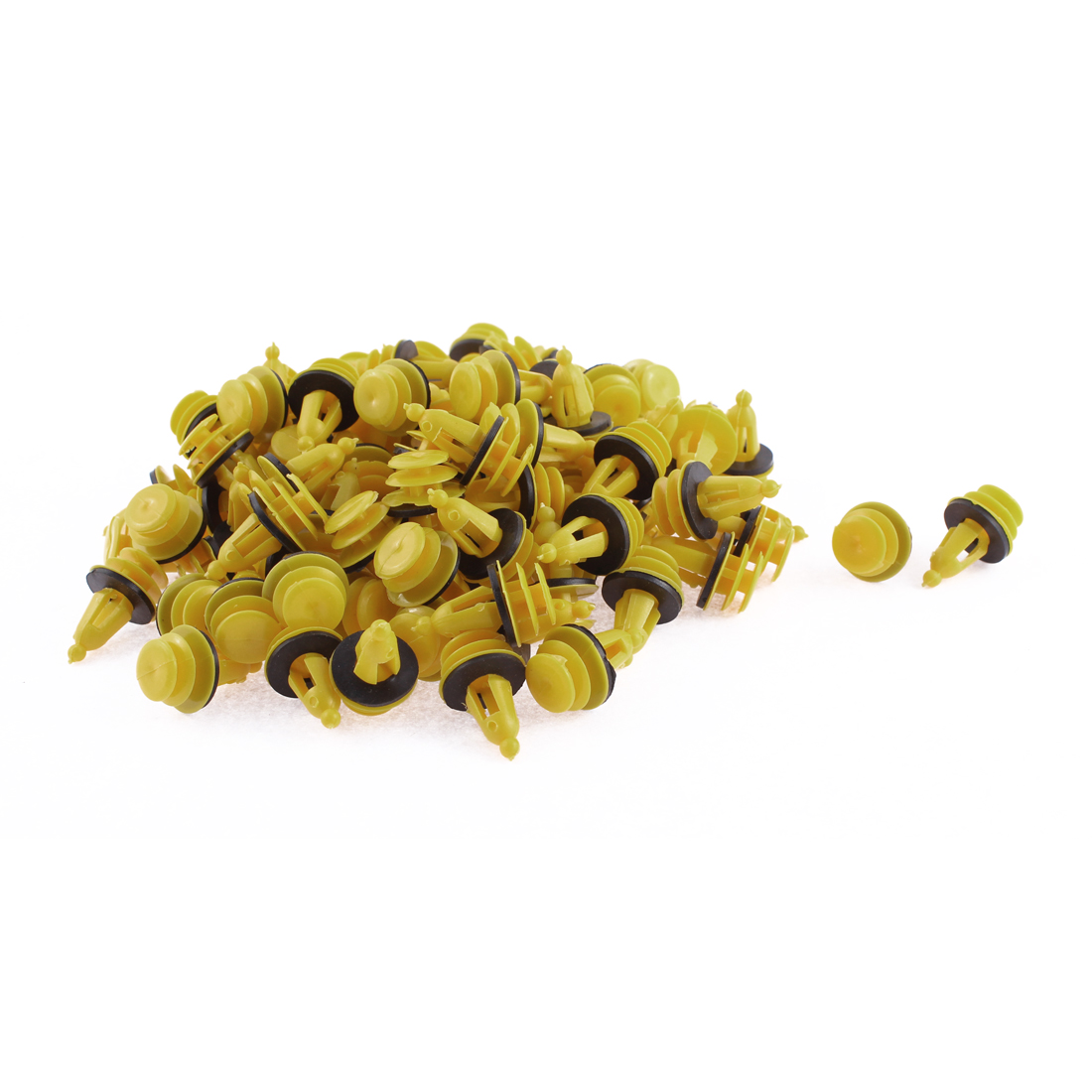 100 Pcs Yellow Black Plastic Trim Panel Hood Rivets Clips for Hyundai