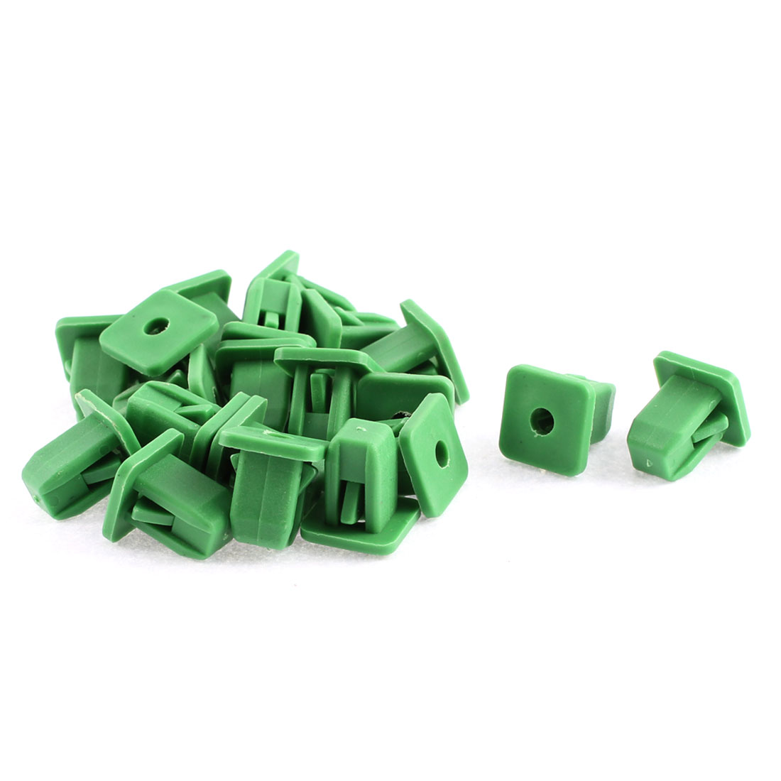 20 Pcs Green Plastic Interior Moulding Trim Rivets Fastener Clips