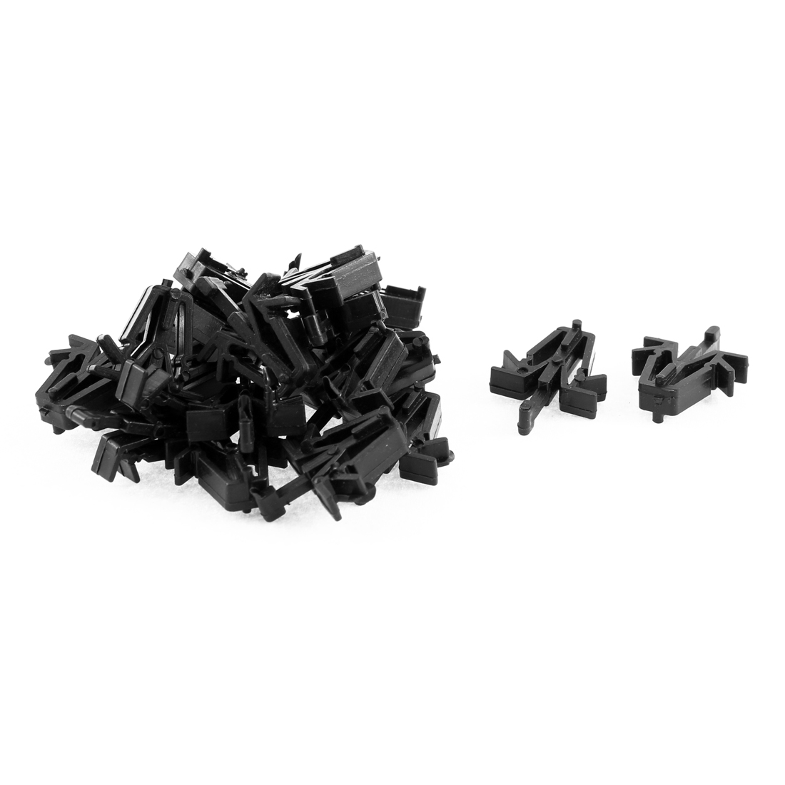20 Pcs Black Plastic Rivet Interior Weatherstrip Buckle Clips for Toyota