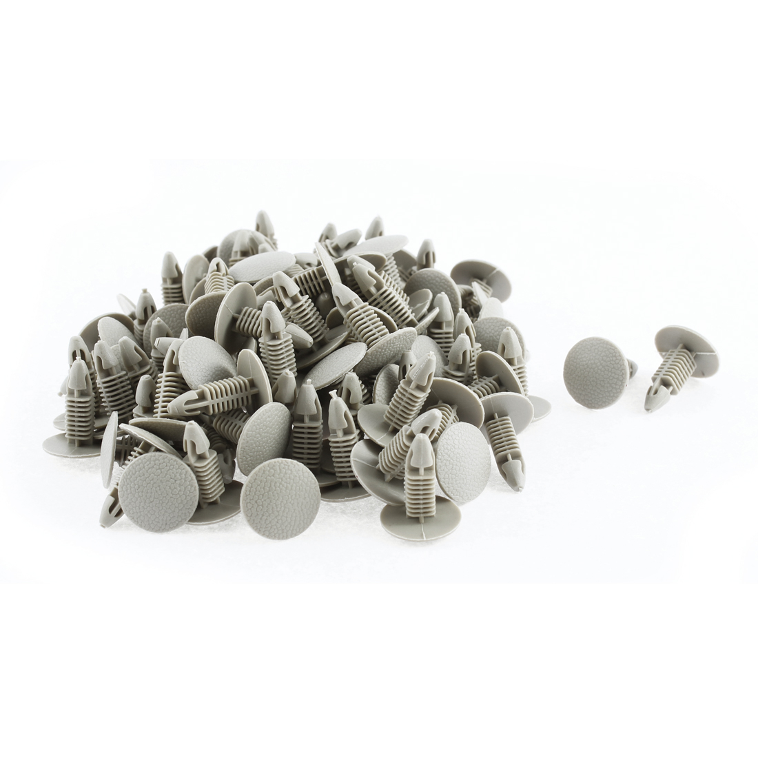 100 Pcs Khaki Plastic Buckle Ceiling Trim Rivets Clips for Hyundai