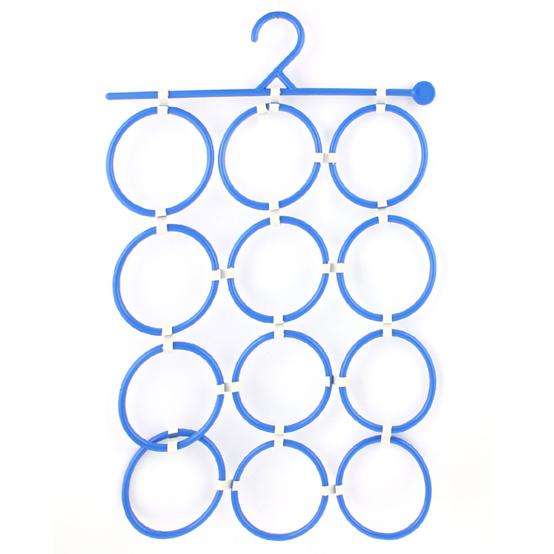 Plastic Multifunction Clothes Scarf Tie Towel Hanger Organizer Holder Rack Blue