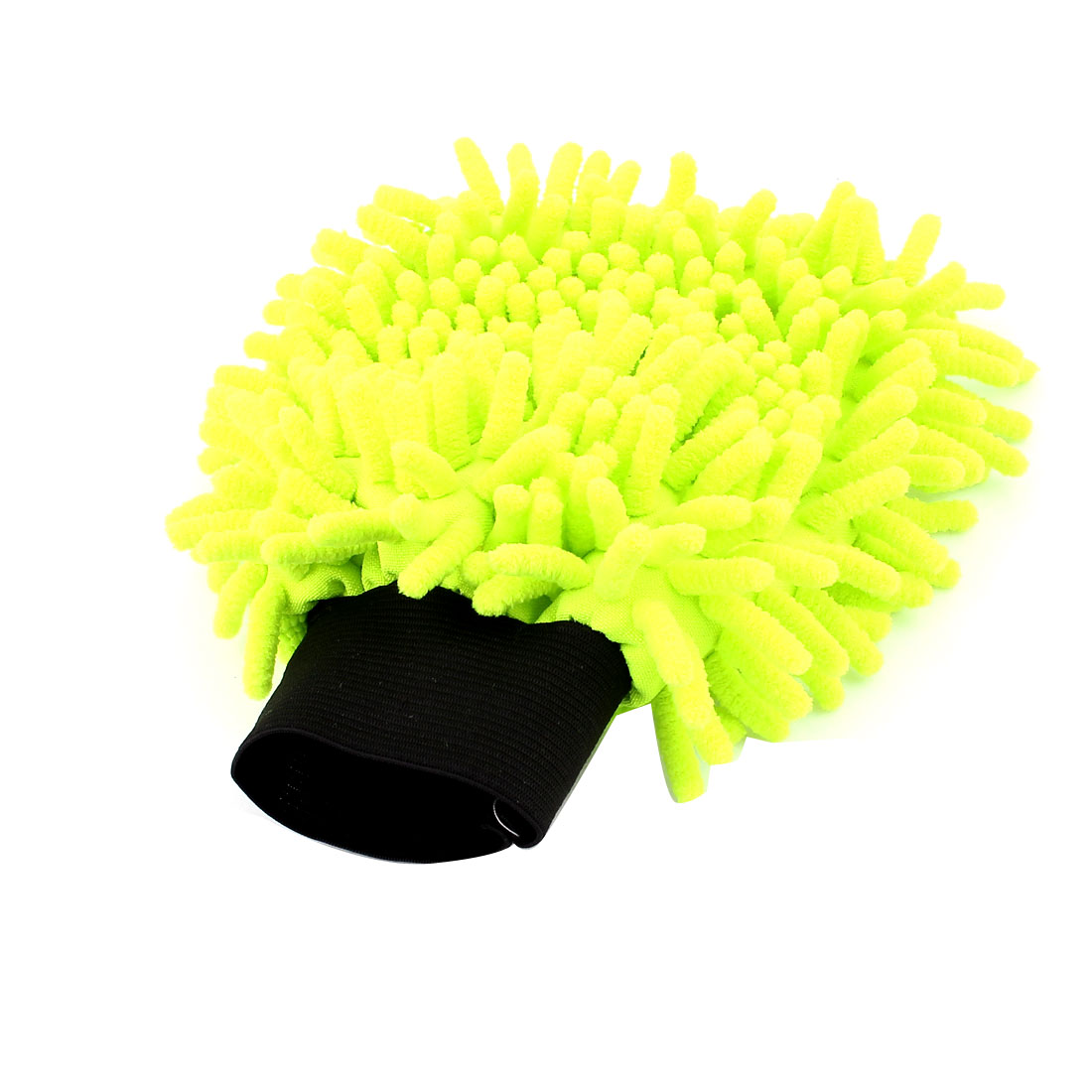 Household Car Window Wash Cleaning Cloth Duster Towel Mitt Glove Yellow Green