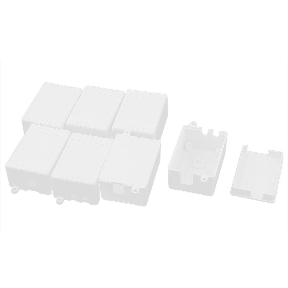 7pcs Dustproof IP65 Cable Entries Gang Junction Box White