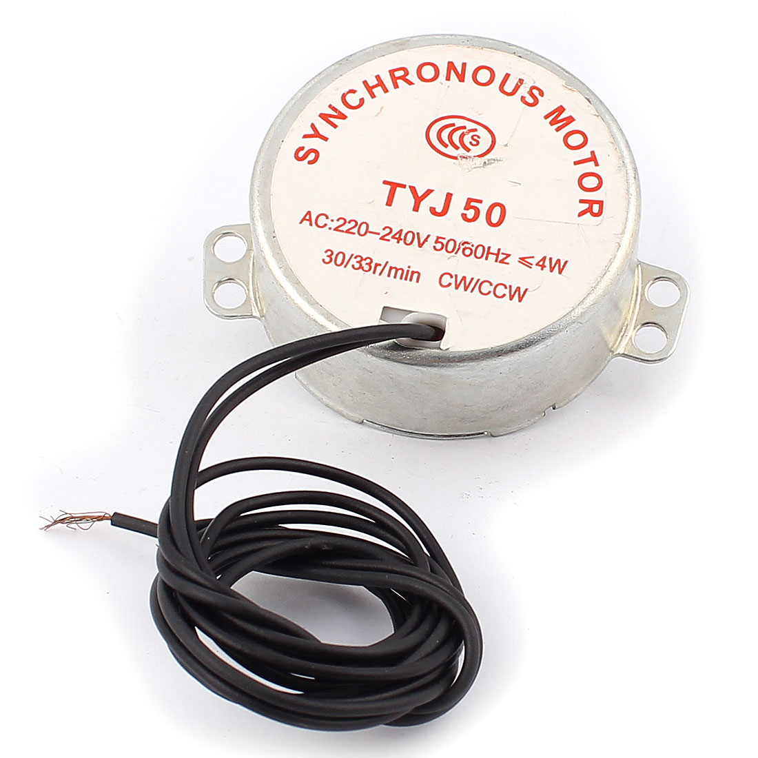 TYJ50 AC 220V-240V 30/33r/min CW/CCW Synchronous Reduction Electric Gear Motor