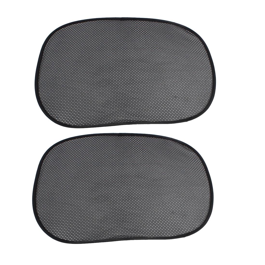 Car Side Window Windshield Foldable Mesh Sunshade Shield Cover Visor Black 2Pcs